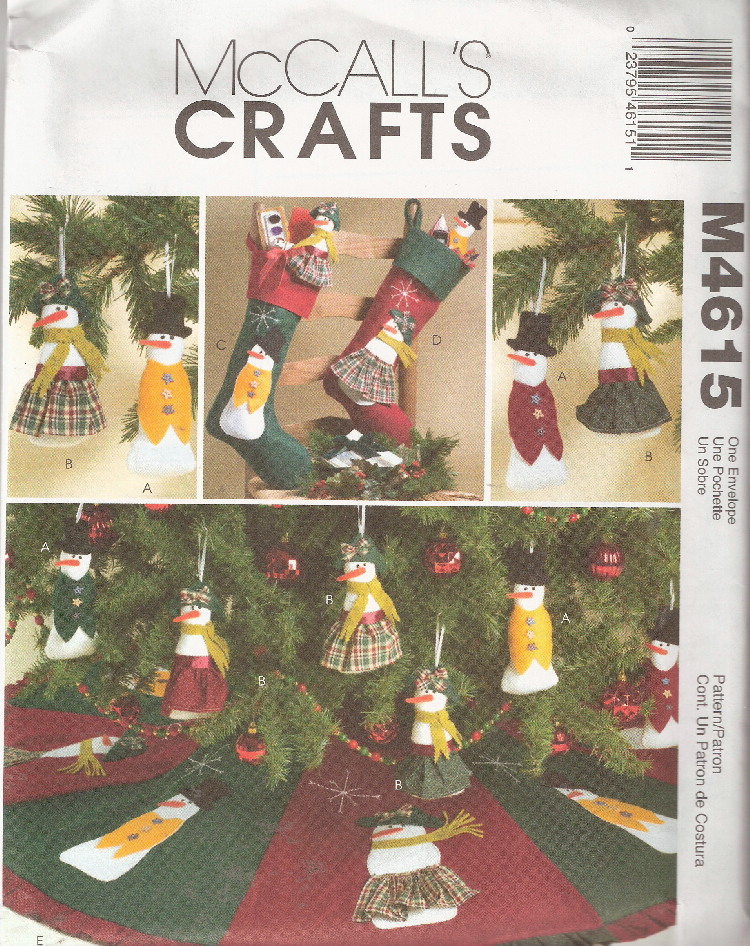 snowman christmas sewing pattern