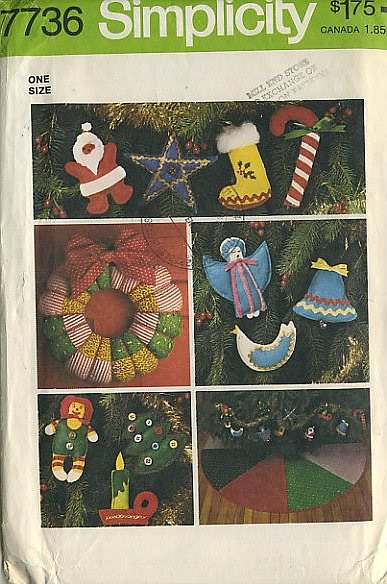 christmas decorations wreath tree skirt sewing pattern