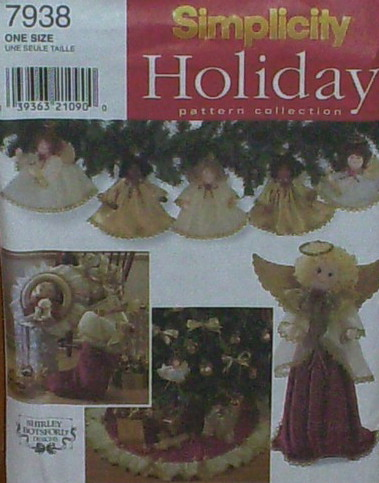 angels ornaments tree skirt wreath sewing pattern