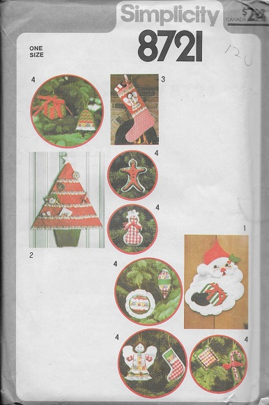 stocking ornaments santa sewing pattern