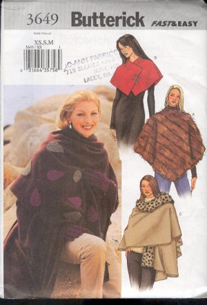 poncho capelet stole sewing pattern