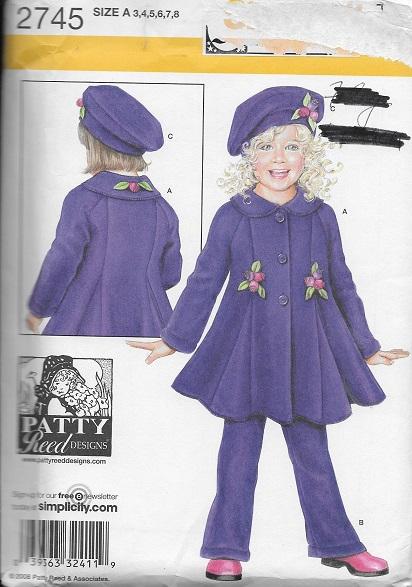 fleece coat hat pants sewing pattern
