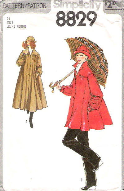 raincoat jacket hat sewing pattern