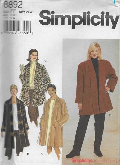 coat jacket sewing pattern