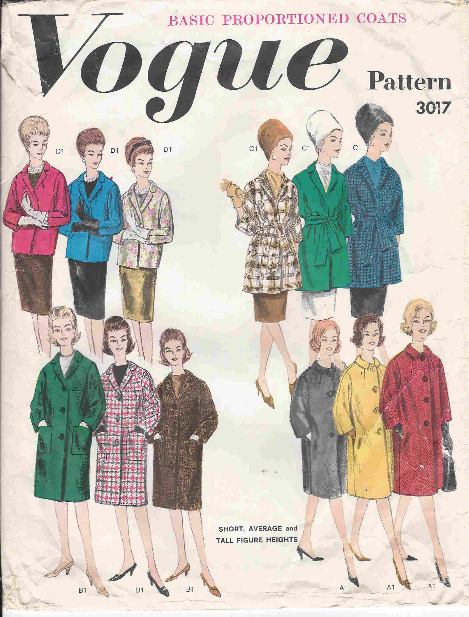 vogue coat sewing pattern