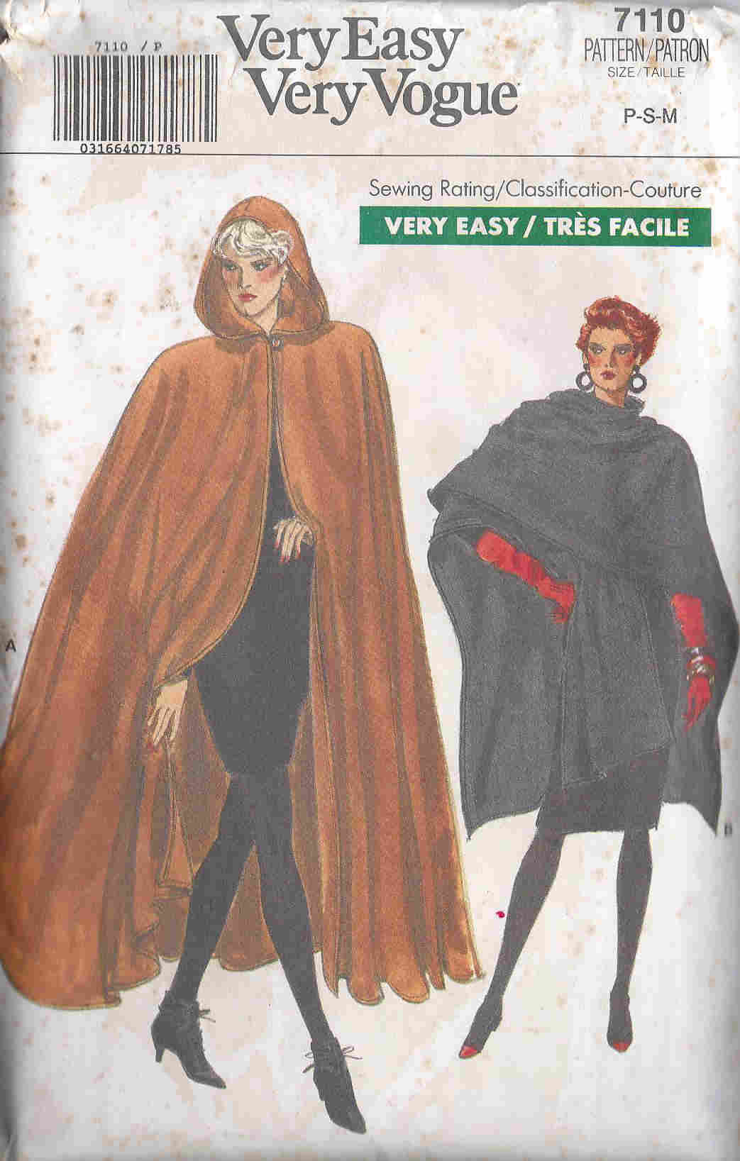 vogue cape sewing pattern