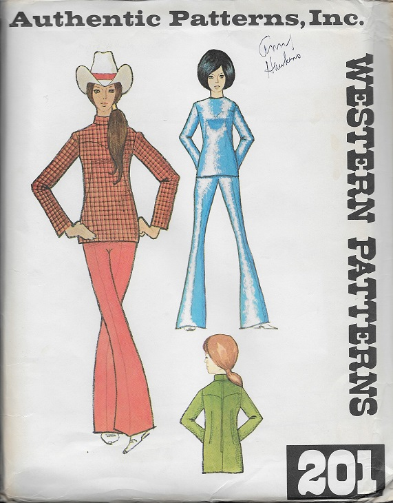 authentic western blouse pants sewing pattern