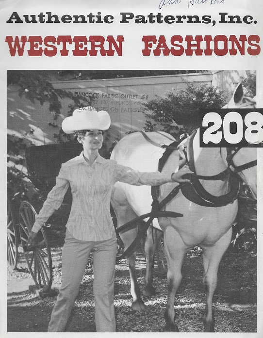 authentic western blouse sewing pattern