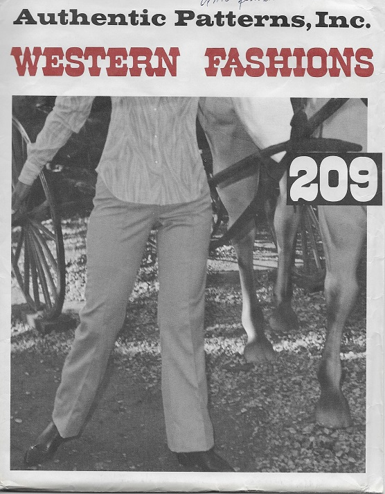 authentic western pants sewing pattern