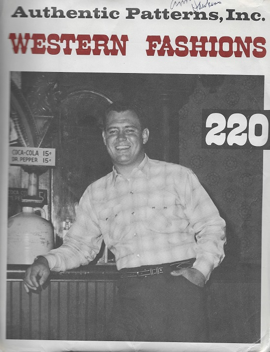 authentic western sewing pattern