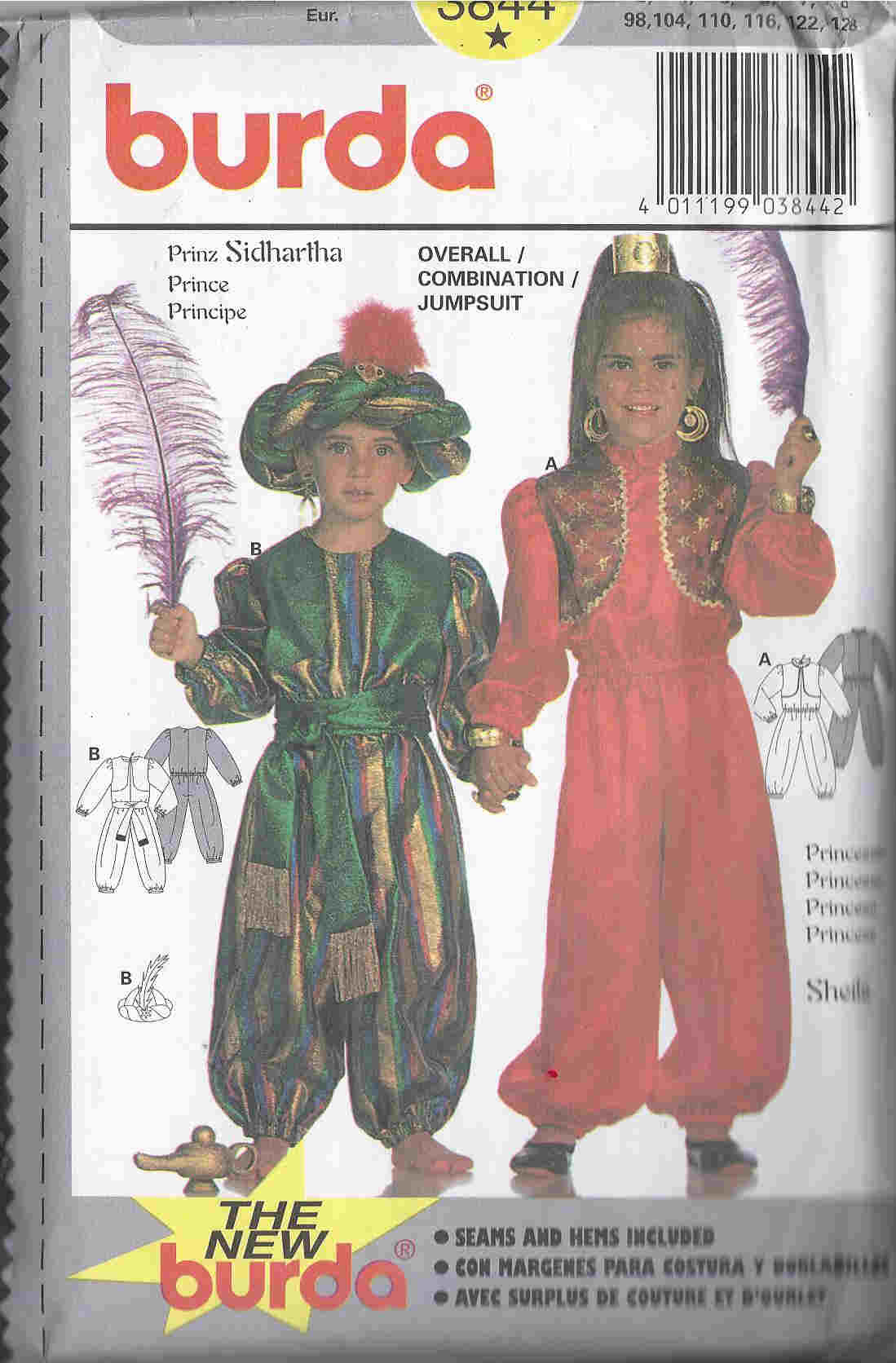 sidhartha costume sewing pattern
