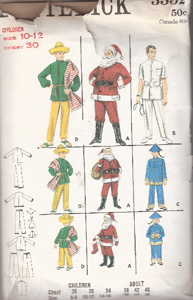 santa doctor mexican costume sewing pattern