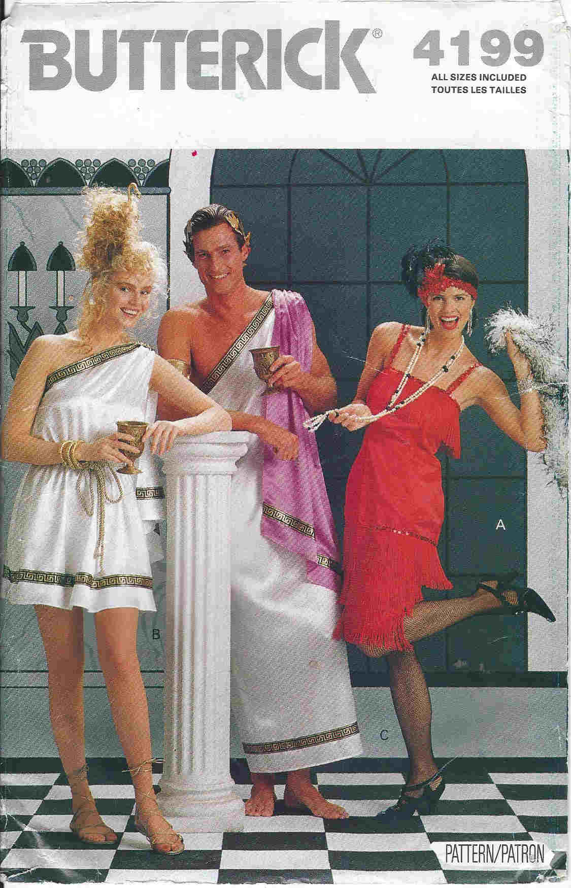 roman toga costume sewing pattren