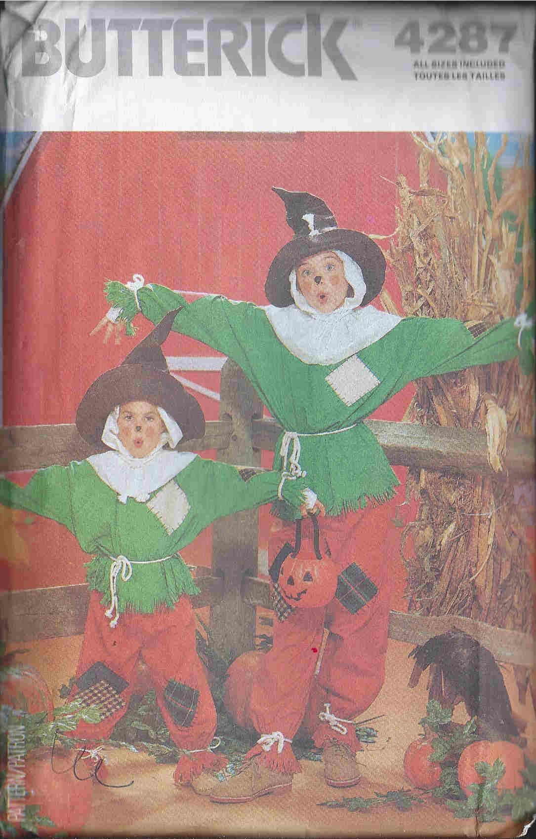 Scarecrow costume sewing pattern