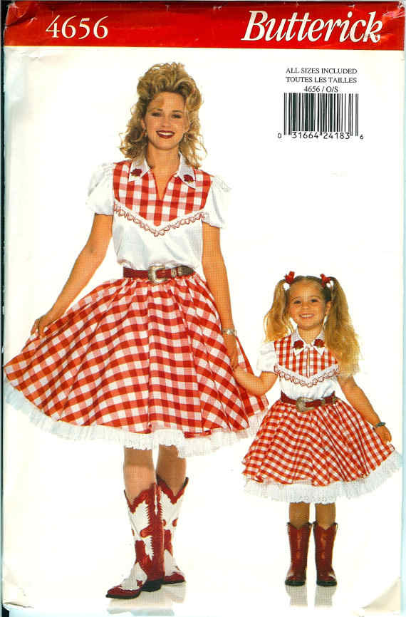 western costume sewing pattern