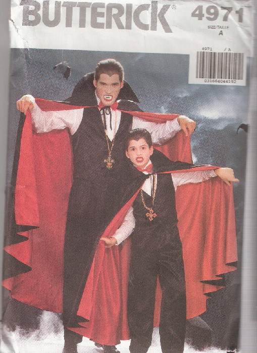 vampire dracula costume sewing pattern