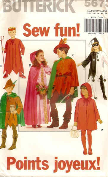 robin hood costume sewing pattern
