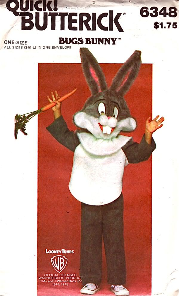 Bugs Bunny costume sewing pattern