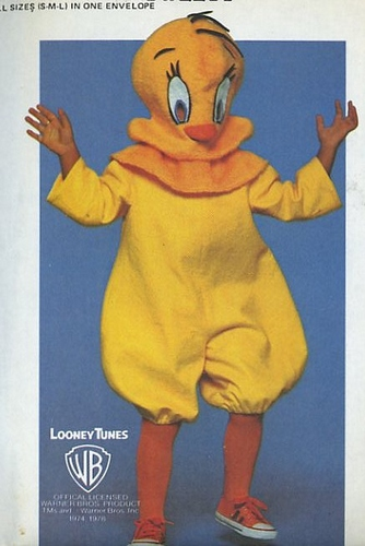 Tweety Bird costume sewing pattern