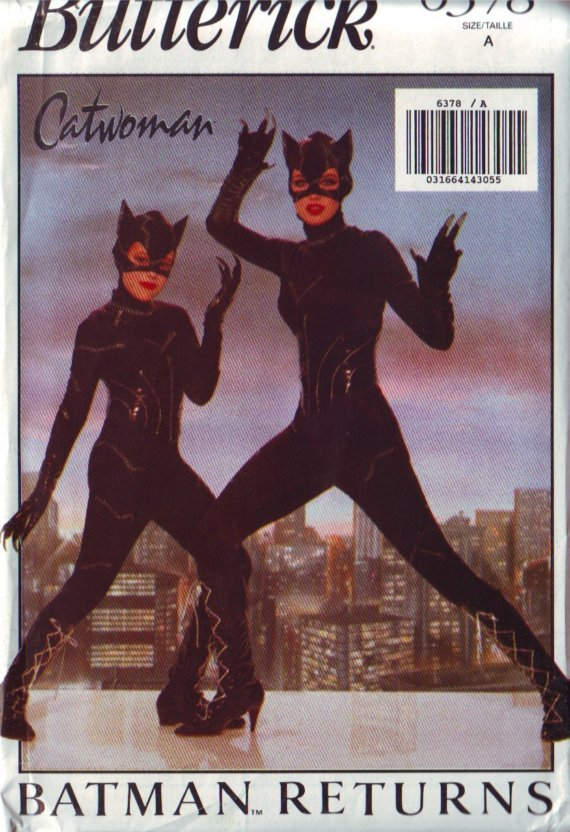 batman catwoman jumpsuit costume sewing pattern