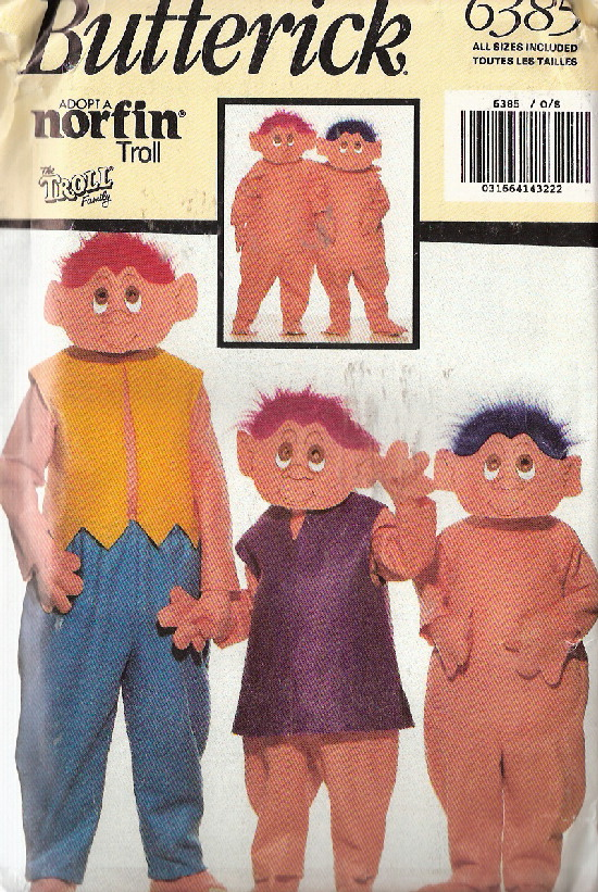 troll costume sewing pattern