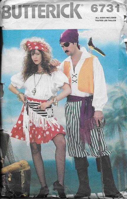 pirate costume sewing pattern