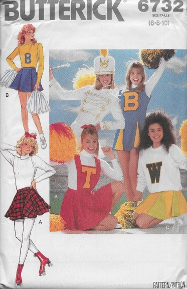 costume cheerleader dress jumper skirt bib panties sewing pattern