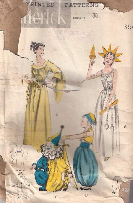 Miss Liberty costume sewing pattern