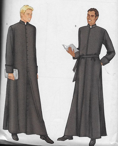 cleric robe sewing pattern