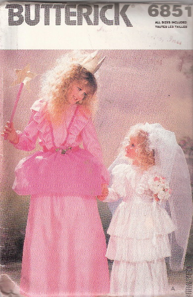 fairy princess costume sewing pattern