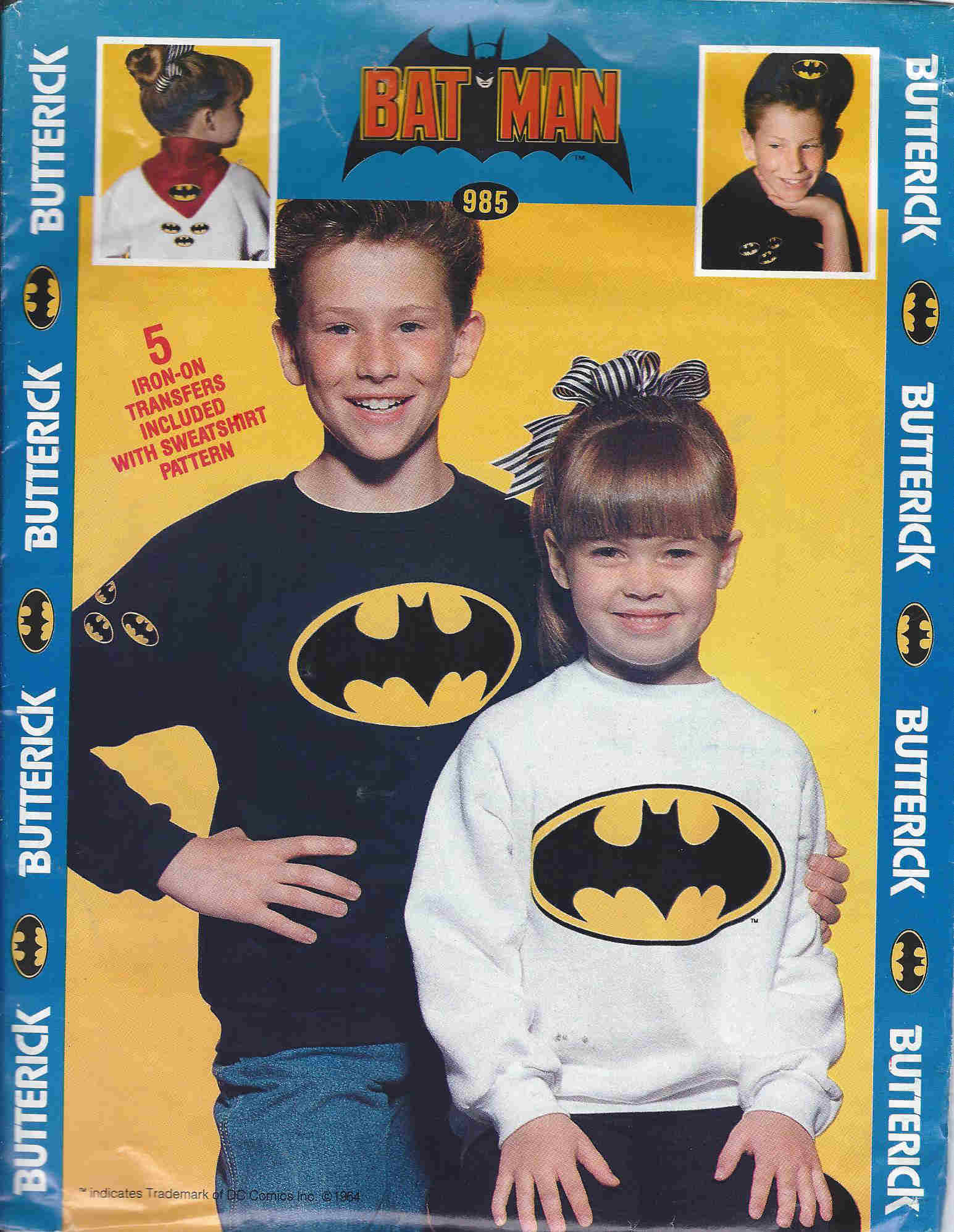batman costume sewing pattern
