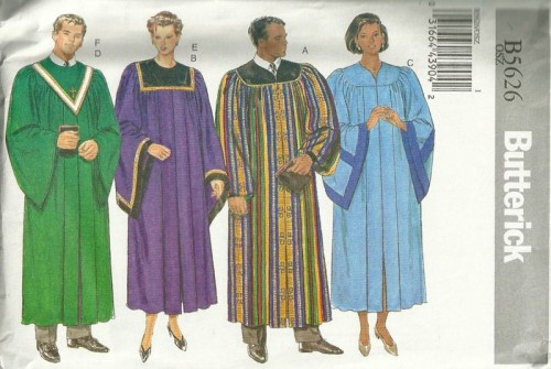 choir robe costume sewing pattern
