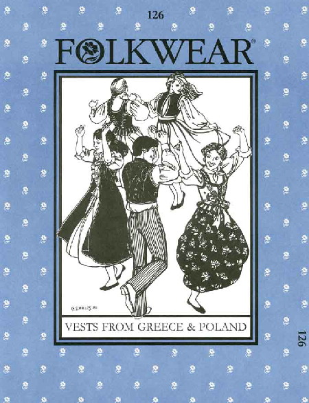 folkwear vest costume sewing pattern