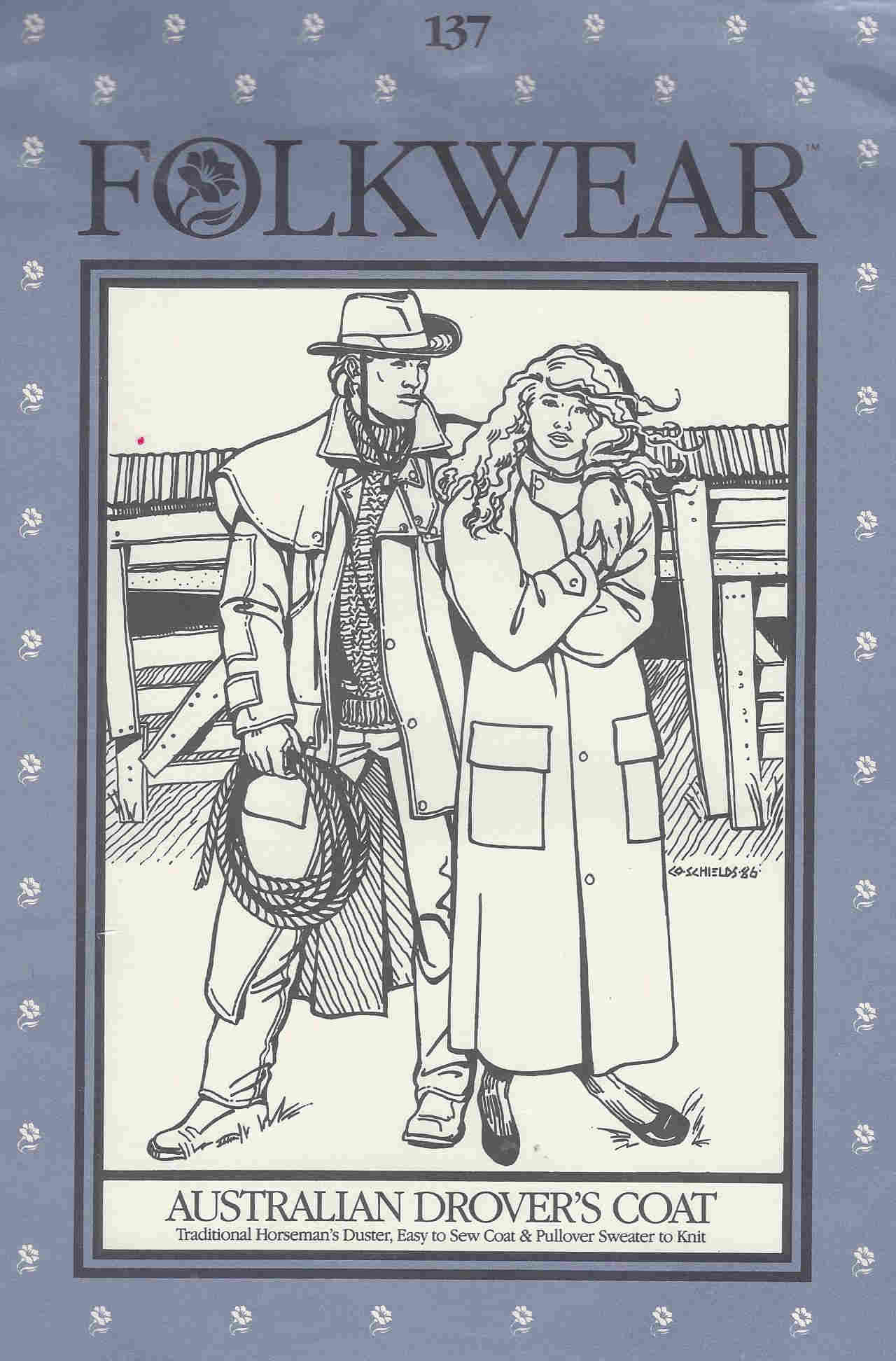 folkwear australian drover coat costume sewing pattern