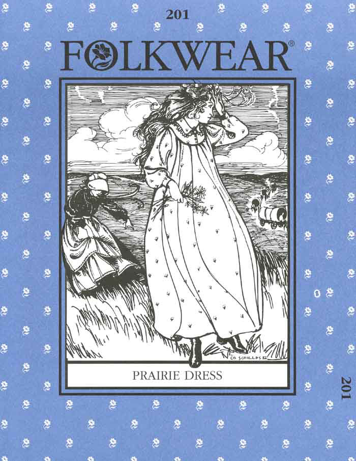 folkwear prairie dress costume sewing pattern