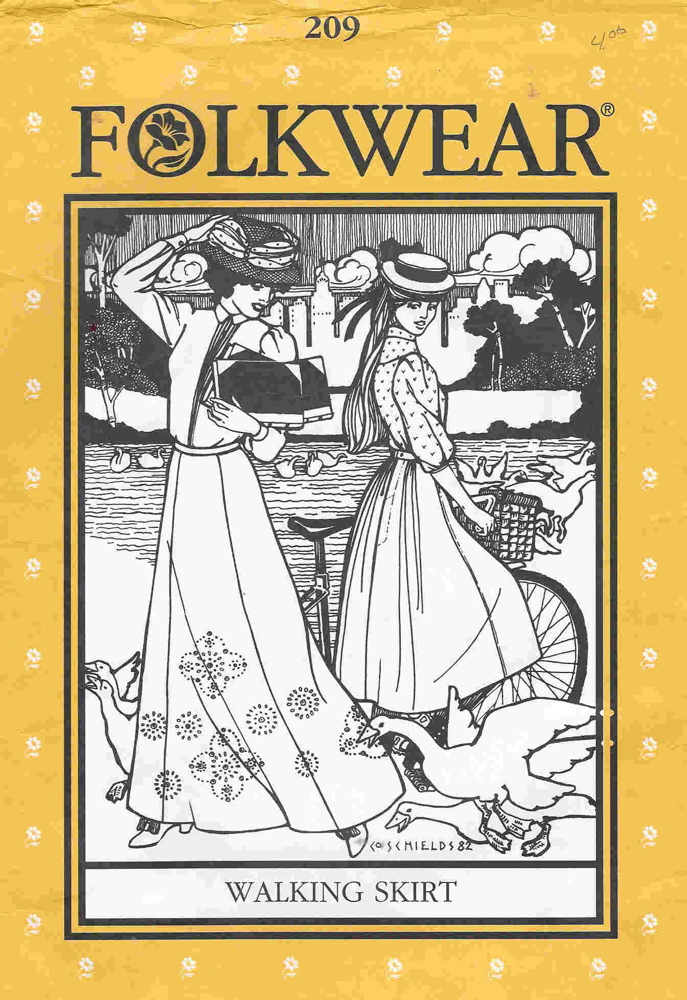 folkwear costume walking skirt sewing pattern