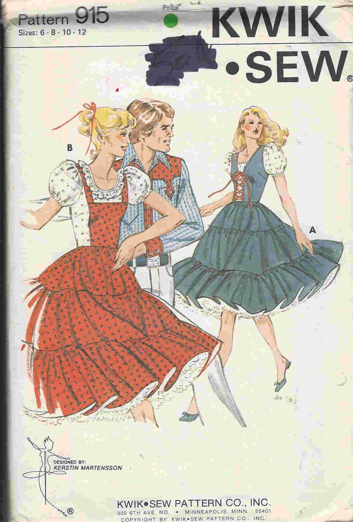 square dance costume sewing pattern