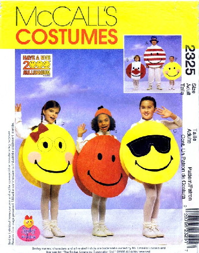 Smiley Face costume sewing pattern
