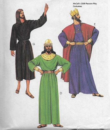 Dellajane Costume Sewing Patterns For Christmas Passion Play Choir