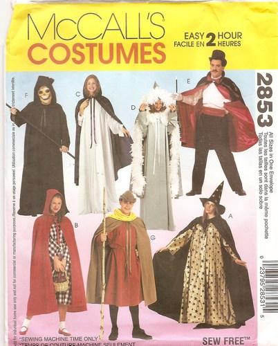cape costume sewing pattern