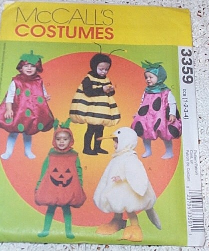 animal food costume sewing pattern