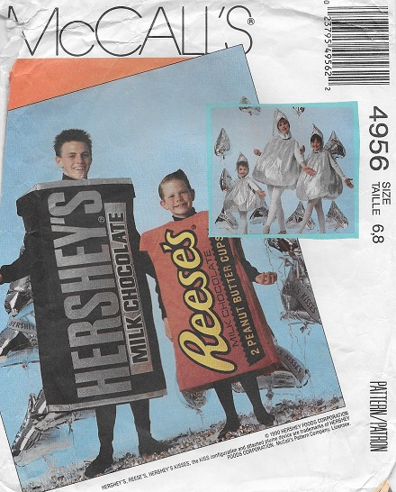 hershey candy costume sewing pattern
