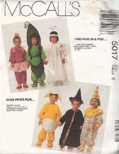 witch clown food costume sewing pattern