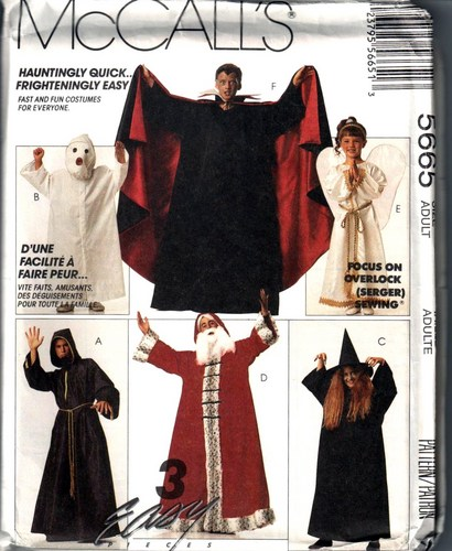 dracula angel wizard costume sewing pattern