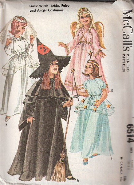 bride witch fairy costume sewing pattern