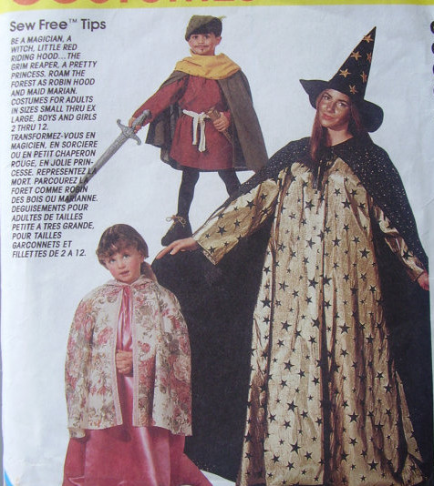witch grim reaper costume sewing pattern