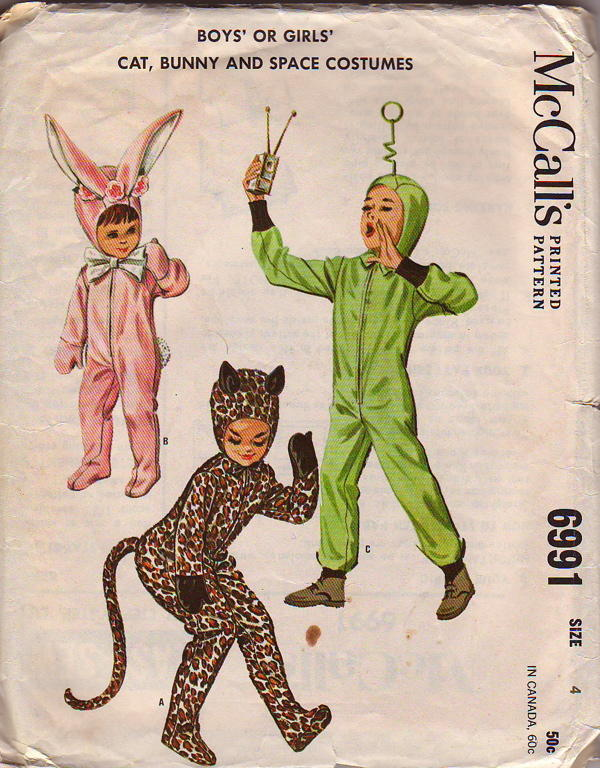 cat bunny spaceman costume sewing pattern
