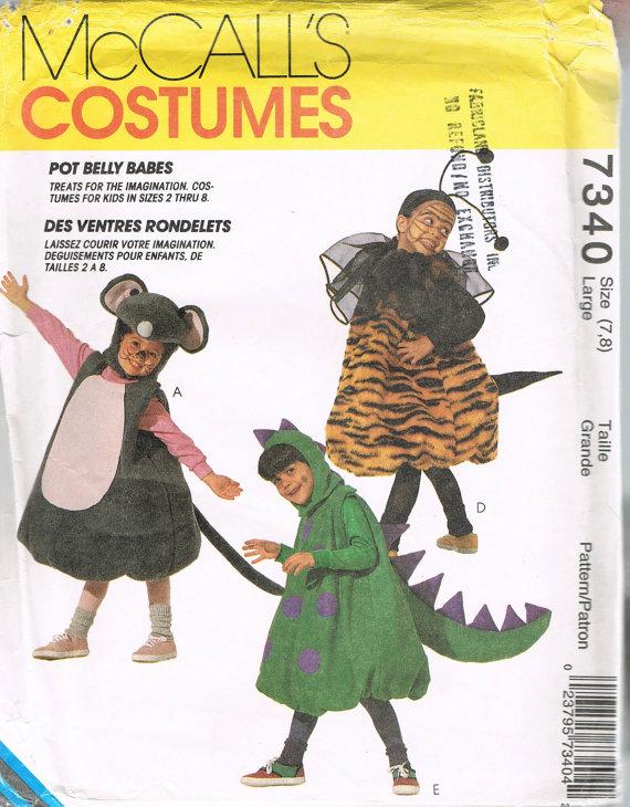dinosaur bee lion costume sewing pattern