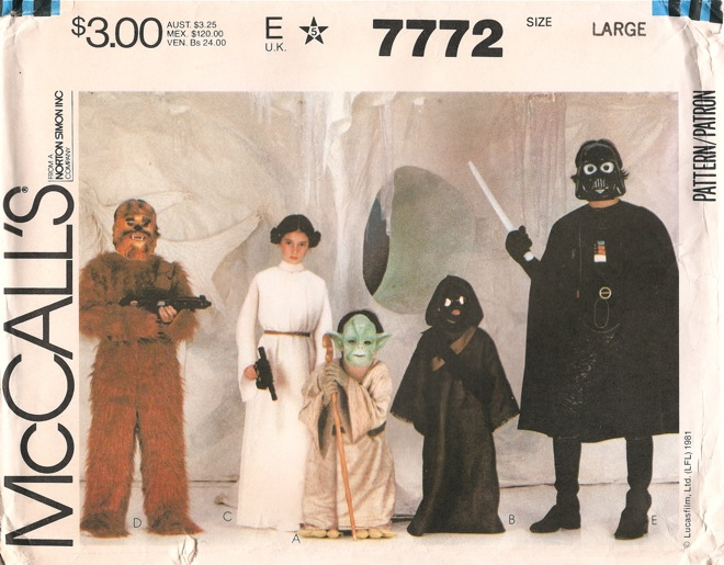 Star Wars costume sewing pattern