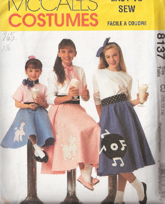 poodle skirt sewing pattern